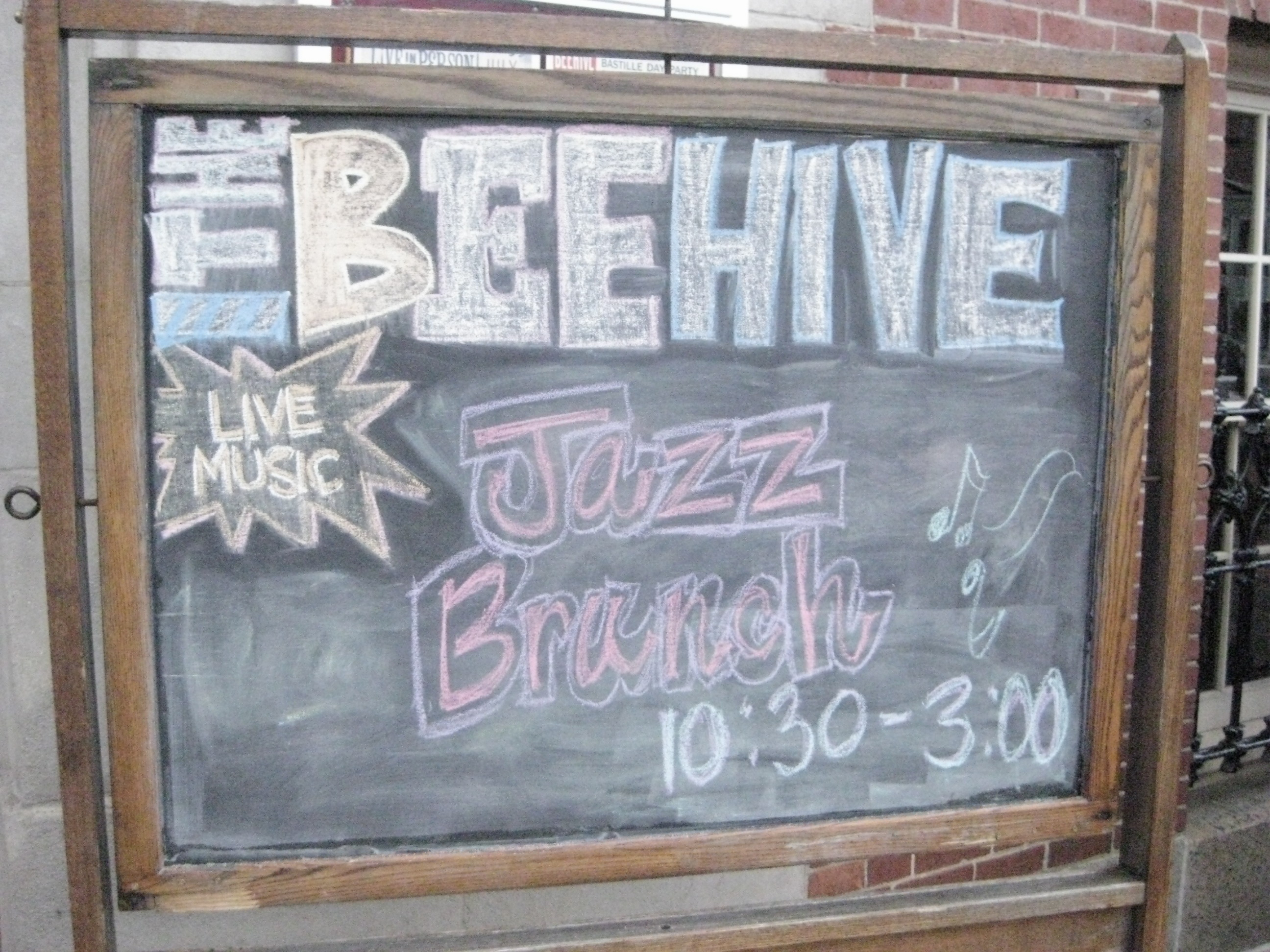 Outside the Beehive