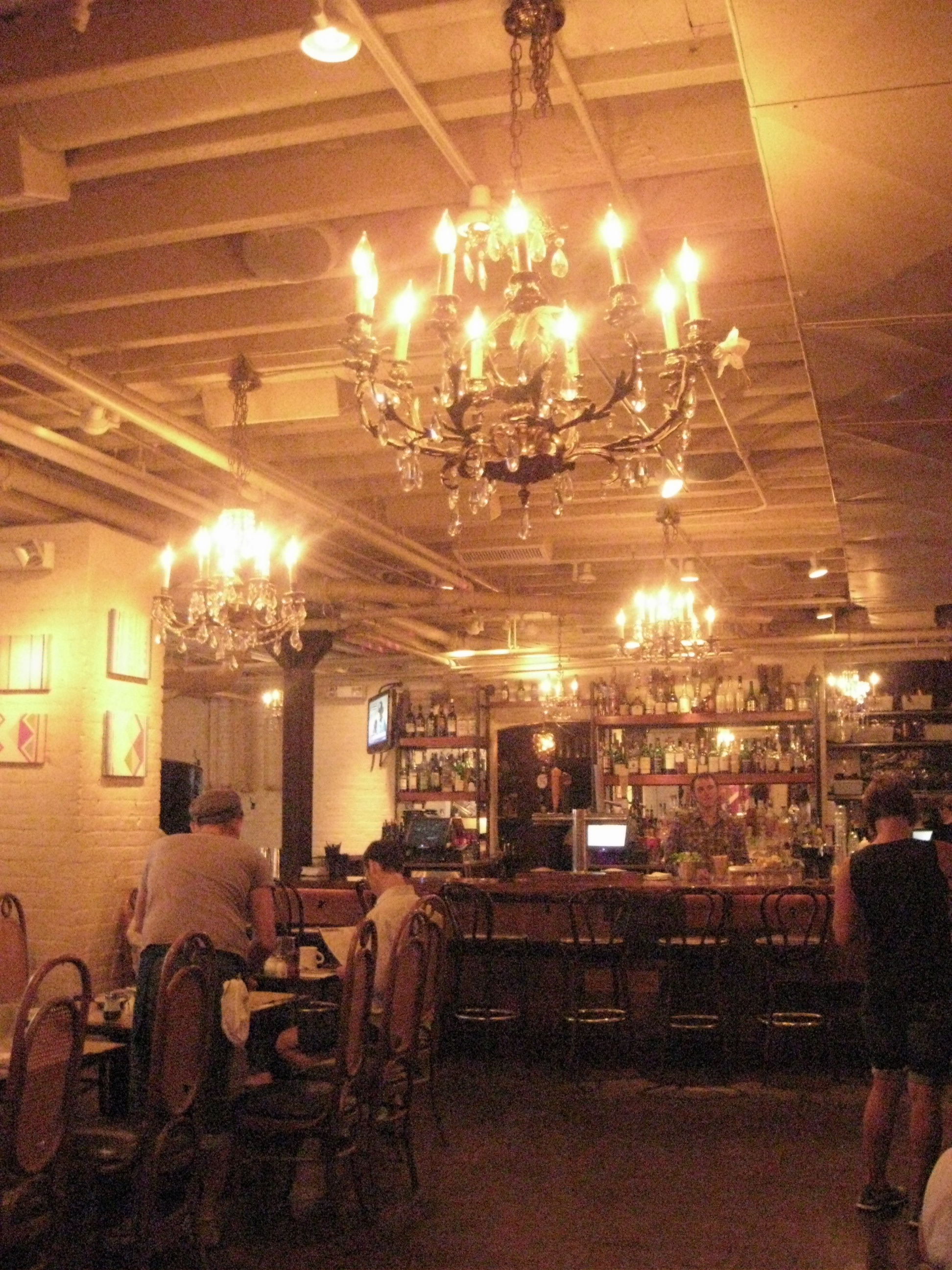 Interior shot of the main downstairs bar at the Beehive